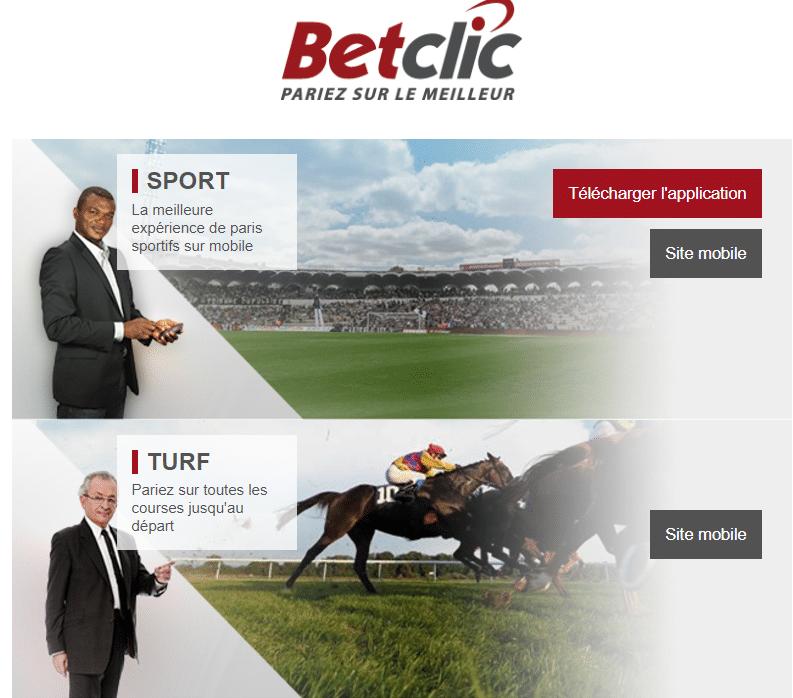 site mobile de betclic.fr